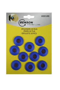 Product Κρίκοι Μουσαμά Πλαστικοί Σετ 10 τεμ. Benson 000188 base image