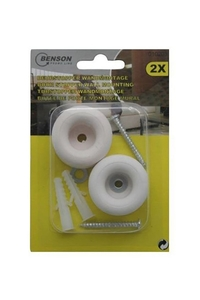 Product Στοπ Πόρτας Τοίχου Σετ 2 τεμ. Benson 010203 base image