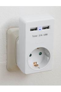 Product Πρίζα Σούκο Με 2 Θύρες USB Bellson 010602 base image