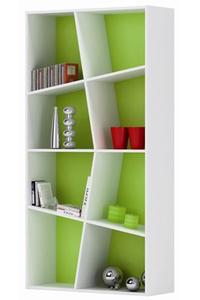 "Product Βιβλιοθήκη ""SPIDER"" Λευκό - Λαχανί Με 4 Ράφια base image"