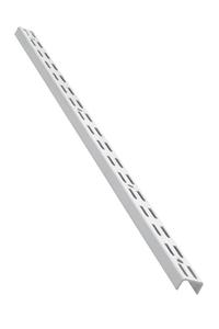 Product Ορθοστάτης Τοίχου Element Διπλής Διάτρησης 100cm Λευκός Σετ 2 τεμ base image