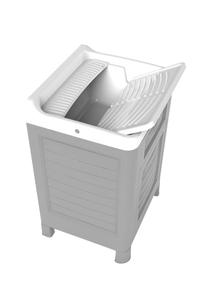 Product Έπιπλο Νιπτήρα Γκρι / Λευκό Bama Artu base image