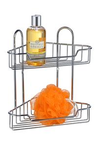 Product Ραφιέρα Μπάνιου Διώροφη Γωνιακή Hi 33339 base image