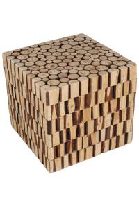 "Product Σκαμπό Τετράγωνο Ξύλινο ""Κορμοί"" Inart base image"
