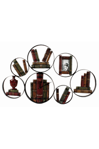 Product Ρολόι - Διακοσμητικό τοίχου μεταλλικό Κύκλοι Και Βιβλία Inart  base image