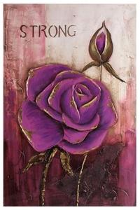 Product Πίνακας Λιλά Τριαντάφυλλο Σε 2 Σχέδια Inart base image