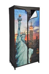 Product Ντουλάπα Υφασμάτινη Με 1 Ράφι New York 75x50x150cm HI 40536 base image