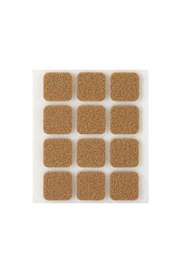 Product Τσοχάκια Επίπλων Αυτοκόλλητα Τετράγωνα 22mm Καφέ Σετ 12 τεμ. Inofix base image