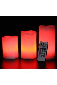 Product Κεριά Φυσικά Με RGB LED Σετ 3 τεμ. Marksman 41227C base image