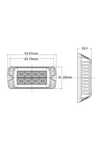Product Φανάρι Προειδοποίησης 8 LED 10/30V 247 Lighting CA 7083A base image