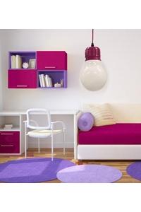 "Product Φωτιστικό Οροφής ""Λάμπα"" Μωβ base image"