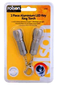 Product Φακοί - Μπρελόκ Αλουμινίου LED Σετ 2 τεμ. Rolson 61745 base image