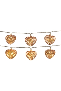 Product Γιρλάντα Με Φωτάκια 10 LED Καρδιές Rose Gold Anika 63170 base image