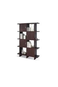 """Product Βιβλιοθήκη """"CORLEONE"""" Wenge Με 4 Ράφια Και Με 4 Ντουλάπια base image"""