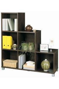 """Product Βιβλιοθήκη """"FLAVIO"""" Wenge Mε 6 Ράφια base image"""