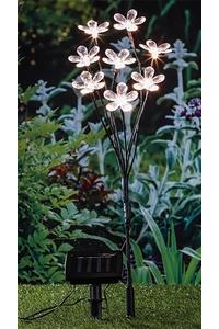 Product Ηλιακό Φωτιστικό 8 LED Μπουκέτο Λουλούδια Hi 70353 base image