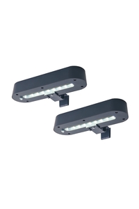 Product Ηλιακό Φωτιστικό Υδροροής 8 LED Σετ 2 τεμ. Hi 70385 base image