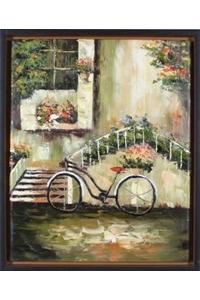 "Product Πίνακας ""Ποδήλατο - Σκάλες"" Inart base image"