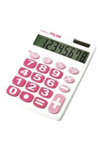 Product Αριθμομηχανή Ηλίου - Μπαταρίας Milan Λευκό - Ροζ 151708WBL base image