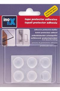 Product Αντικραδασμικά Επίπλων Αυτοκόλλητα Στρόγγυλα 16x7,9mm Σετ 6 τεμ. Inofix base image