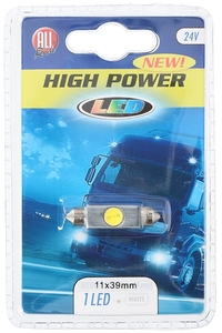 Product Λάμπα 1 LED 24V White 11x39mm All Ride 84700 base image