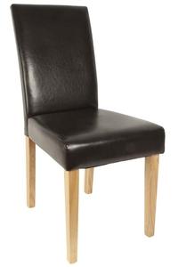 Product Καρέκλα Δερματίνη Καφέ Σκούρο base image