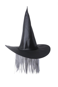 Product Αποκριάτικο Καπέλο Μάγισσας Με Μαλλιά base image