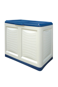 "Product Μπαούλο Πλαστικό ""METTITIUTTO"" Λευκό / Μπλε 200Lt base image"