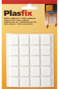 Product Τσοχάκια Επίπλων Αυτοκόλλητα Τετράγωνα 17mm Λευκά Σετ 20 τεμ. Inofix base image