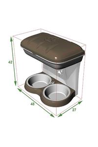 Product Σταντ Φαγητού Επιτοίχιο Πράσινο Bama 19041 base image