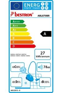 Product Σκούπα Ηλεκτρική 700W Bestron Designo Plus ABL870BR base image
