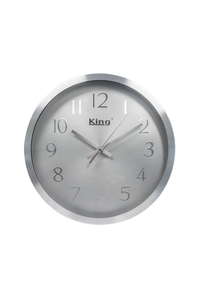 Product Ρολόι Τοίχου Ασημί Γκρι King O1673002 base image