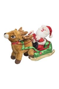 Product Διακοσμητικό Χριστουγεννιάτικο Λούτρινο Με Μουσική & Κίνηση Αγ. Βασίλης base image