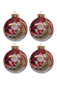 Product Μπάλες Άγιος Βασίλης 8cm Σετ 4 τεμ. base image