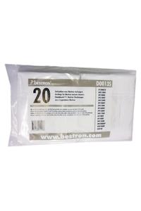 Product Σακούλες Σκόνης Ανταλλακτικές BESTRON D0013S Σετ 20 τεμ. base image