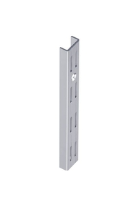 Product Ορθοστάτης Τοίχου Element Διπλής Διάτρησης 100cm Ασημί Σετ 2 τεμ base image