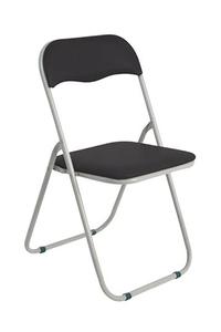 "Product Καρέκλα PVC Πτυσσόμενη ""Linda"" Μαύρη base image"