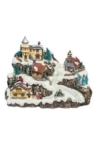 Product Διακοσμητικό Χριστουγεννιάτικο Χωριό Με Φωτσιμό & Μουσική base image