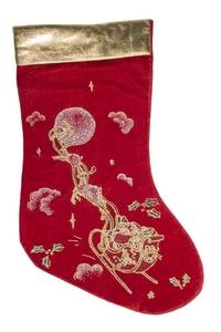 Product Μπότα Χριστουγεννιάτικη Κόκκινο Χρυσό 42cm base image