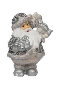 Product Διακοσμητικό Χριστουγεννιάτικο Αγ. Βασίλης Κεραμικός Ασημί Σε Διάφ. Σχέδια base image