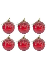 Product Μπάλες Χριστουγεννιάτικες Κόκκινες Διάφανες 7cm Σετ 6 τεμ. base image