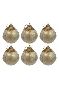 Product Μπάλες Χριστουγεννιάτικες Χρυσές 7cm Σετ 6 τεμ. base image