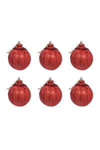 Product Μπάλες Χριστουγεννιάτικες Κόκκινες 7cm Σετ 6 τεμ. base image