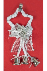 Product Διακοσμητικό Χριστουγεννιάτικο Αγγελάκι Ασημί base image