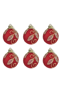 Product Μπάλες Χριστουγεννιάτικες Κόκκινο / Χρυσό 7cm Σετ 6 τεμ. base image