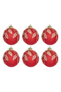 Product Μπάλες Χριστουγεννιάτικες Κόκκινο / Χρυσό 9cm Σετ 6 τεμ. base image