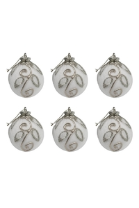 Product Μπάλες Χριστουγεννιάτικες Λευκό / Ασημί 7cm Σετ 6 τεμ. base image