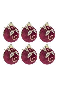 Product Μπάλες Χριστουγεννιάτικες Μπορντό / Χρυσό 9cm Σετ 6 τεμ. base image