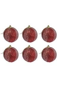 Product Μπάλες Χριστουγεννιάτικες Κόκκινες Με Γκλίτερ 7cm Σετ 6 τεμ. base image
