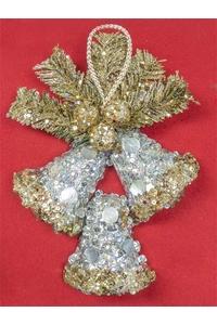 Product Διακοσμητικό Χριστουγεννιάτικο Καμπάνες Χρυσό / Ασημί base image